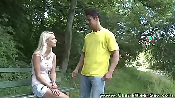 AmberSkye - Blonde teen doggystyle from Hip West