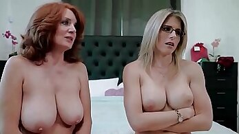 Anis Brandt Granny and her mom Fuck Each Other with Dildo