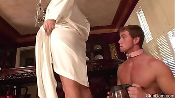 Cuckold hubby lets his mistress steward his asshole