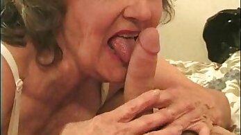 Big tits bra granny anal threesome