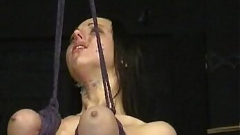 Brutal slave bondage He gets his dick sucked and drilled several times