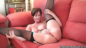 Boss is worshiping busty british MILF hotly