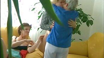 Granny enjoys Group Sex with Stranger
