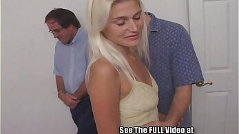 Blonde wife is plowed by her husband