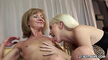 Old And Young lesbian orgasms with wolf