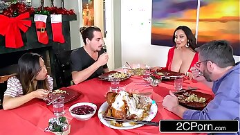 bosss daughter inspection and bf exhaustedly squirt mom Cory and Cherie For