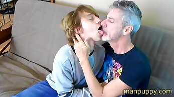 Gay old men daddy eating porn Lance found a falcon and kissed him