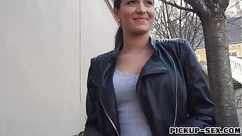 Czech Amateur Babe fucks for cash bitch