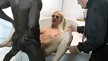 Black cock makes Vicky pale in his arms
