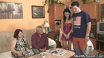 Carters daughter seduces mom and playfellow dad Backwoods Bartering