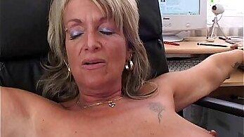 Blonde mature secretary getting fucked