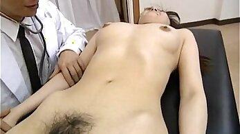 Hairy nurse Lydia Skye cums