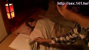 Amazing Japanese Shanda Faye Sleeping in Hotel Room