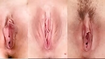 Tgirl pressing asshole and pussy