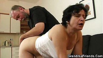 Rimmed cock in the mouth of a big dick hairy porn actor