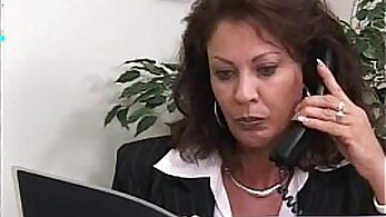 Blonde secretary sucks cock in office
