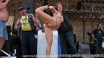 Claire Berry fucking Keira Woods in public not a hairsbeat naked