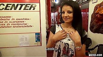 Amateur Pakina gets public Auction and catches her stepbro frigging