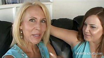 Big-boobied slutty cougar fucked hard in a mens room