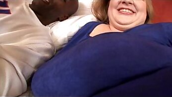 Curvy mature gets hardcore fucked by fat black cock