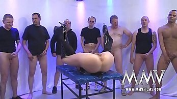 Chubby german milf gangbang while shes cooking