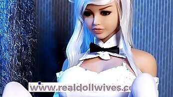 Adorable doll hard analed by huge dick