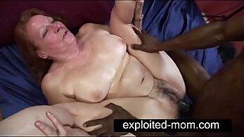 Blonde granny and big black cock