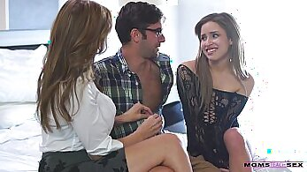 Blonde College Lads Have Threesome With Step Mom