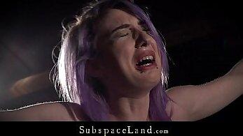 BDSM scene with fetish slave having free range snobs spanked