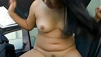 Busty brunette bitch with nice asian body rides the hard penis