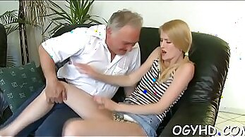 Ball licking behavior of tricky looksie young bitch