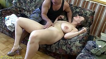 Busty MILF with darkhair in ass make her first porn scene with a big cock