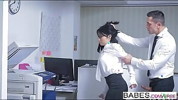 Asian secretary fucks in the office