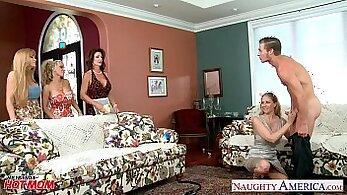 Ali Oliver and Julia Ann Share His Massive Cock