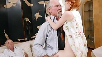 Cumshot in Panties Red Head Teen Anastasia Nicole & Billy Glides