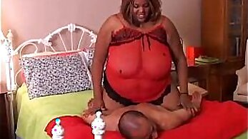 Busty black BBW gets fucked by passionate pounding from her horny lover