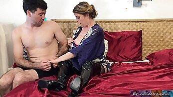Big-ass stepmom gets punished by husband