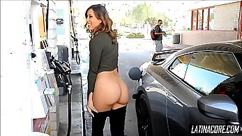 April Orones flashing ass in public