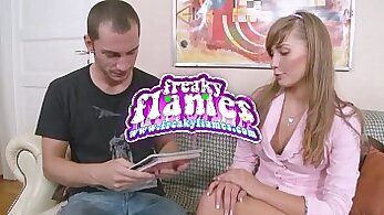 babe gets her ass fucked from the back by young cock
