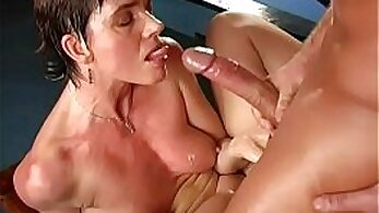 Busty mature wife fucked by young boy